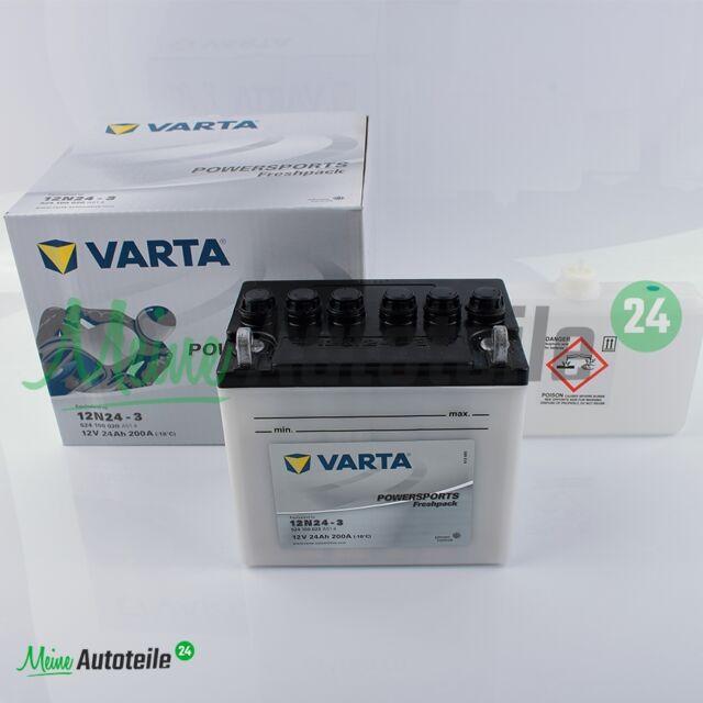 VARTA 12N24-3 POWERSPORTS FRESHPACK MOTORRAD BATTERIE TOP QUALITÄT
