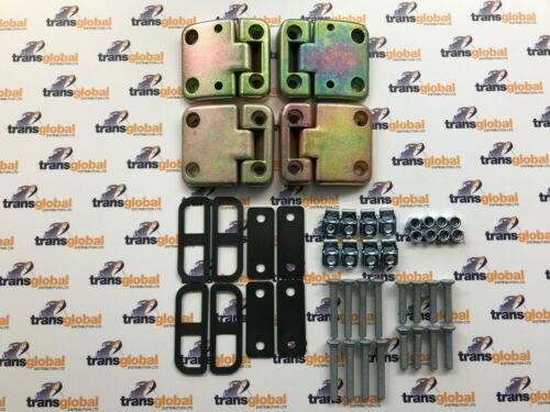 Front Door Hinge /& Bolt Kit for Land Rover Defender 90 110 130 Bearmach BK 0350