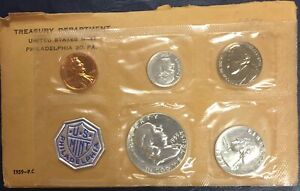 1959 P Proof Set In Snap Tight Display Case 90/% Silver Flat Rate Shipping