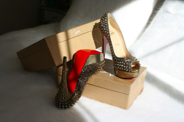 Christian Lou Boutin Spikes Red Bottoms