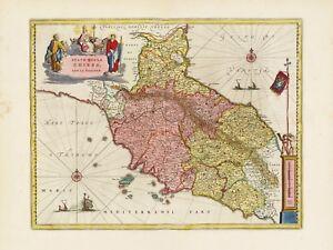 Old Vintage Tuscany Italy decorative map Blaeu ca. 1655   eBay