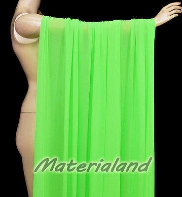 "160cm(63"") Width Neon Green Power 4 Way Stretch Spandex Mesh Net Fabric DIY"