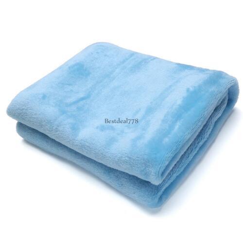 Soft Flannel Warm Solid Micro Plush Fleece Blanket Throws Rug Sofa Bedding NEW