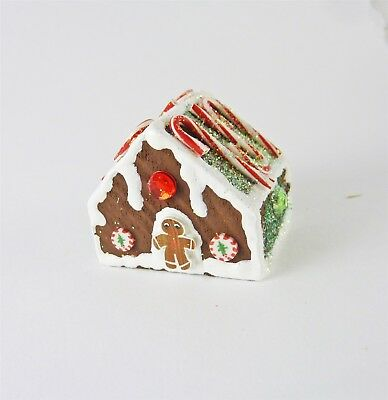 Dollhouse Miniature Unfinished Metal Small Gingerbread House