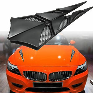 Paire-ABS-universel-voiture-decoratifs-D-039-Admission-D-039-Air-Cote-Flow-hood-vent-Cover-Sticker