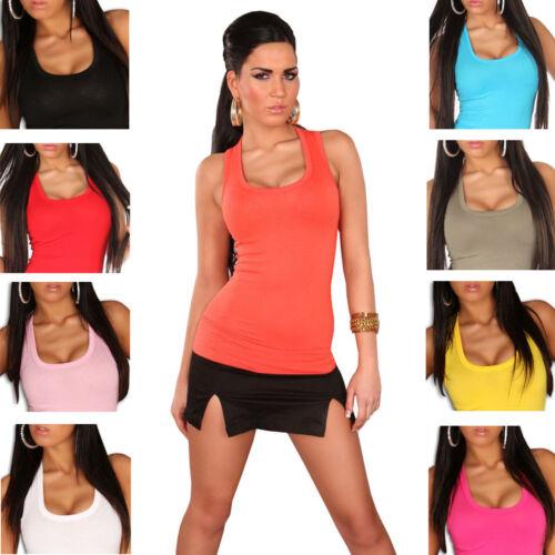 Top & Shirt Basic Sport Freizeit figurbetonend Einheitsgröße 32 34 36 38 T-Shirt