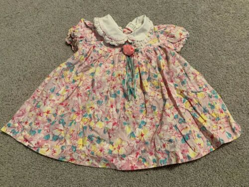 Vintage Girl's Dress Size 24 Months Pinafore 1980s