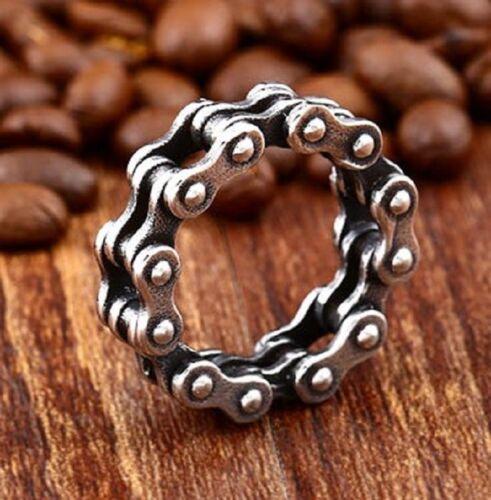 Biker Stainless Steel Ring Necklace Fahradketter Rocker Mc Chopper Harley Cool