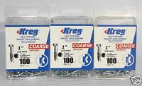 Kreg Sps-c1 Self-tapping 1 Pocket Hole Screws Coarse 3 Pack 100 Count Per Box