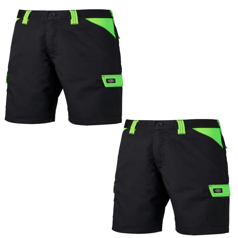 Dickies tutti i giorni Twin Pack più Tasca Pantaloncini Nero & Lime (varie dimensioni)
