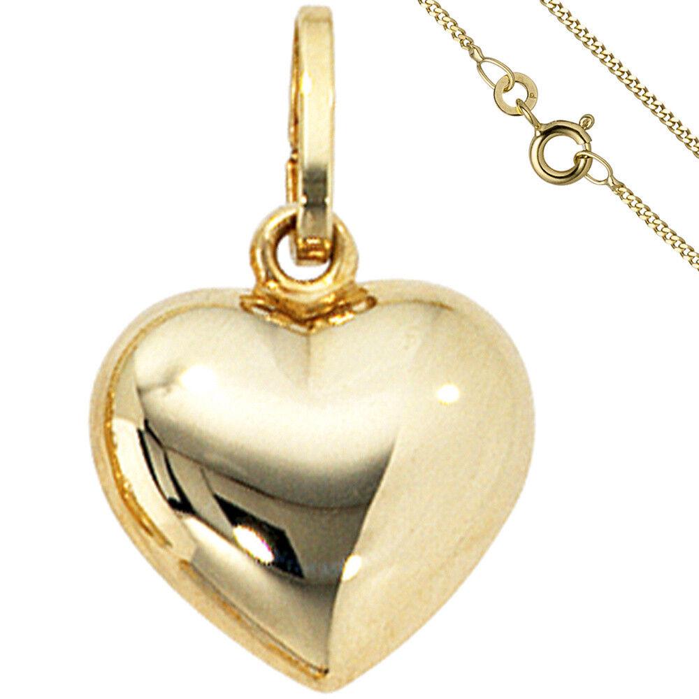 CIONDOLO PICCOLO PICCOLO PICCOLO CUORE CUORICINI 333 oro con Catena 50 cm oro cuore 4f6ef7