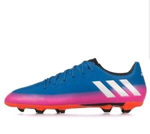 6e1c207ece4 Men s Adidas Messi 16.3 FG Soccer Cleats - Blue Pink Orange - BA9021 ...