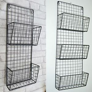 Image Is Loading Wire Storage Rack Retro Vintage Industrial Wall Unit