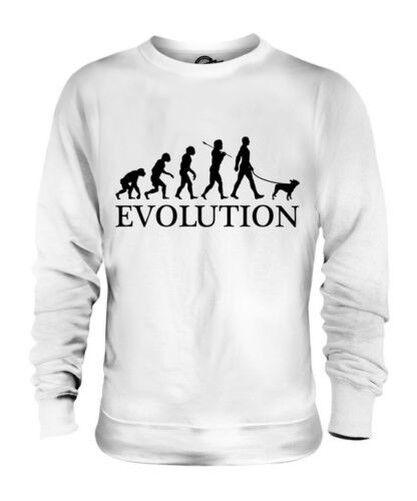 Mops Evolution des  Herrenchen Unisex Pullover Herren Damen Hundefreunde Geschenk