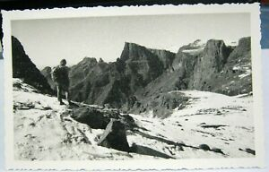 South-Africa-Drakenberg-scene-and-climber-RPPC-posted-1957