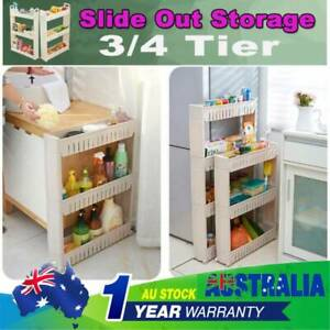 3/4 Slide Out Storage Tower Rolling Bathroom Kitchen ...