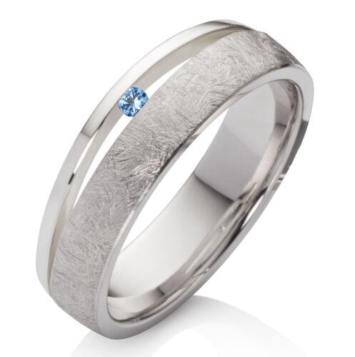 Verlobungsring aus 925 Silber Damenring mit echtem Topas und Ring Gravur SDT43