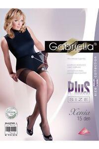 Plus Taille Classique Collants 15 Den Taille Xl Xenia Gabriella-afficher Le Titre D'origine