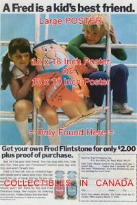 FLINTSTONES-VITAMINS-1971-Blow-Up-Fred-POSTER-Not-Comic-Book-2-SIZES-18-or-19-034
