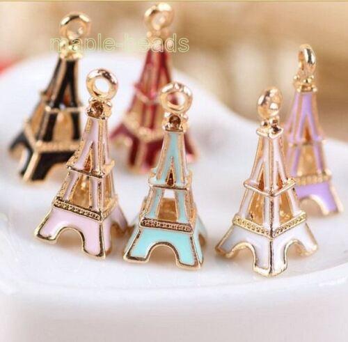 """2pcs-1/"""" Eiffel Tower charm-enamel Paris Charm-you pick the color"""