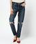 MOUSSY-Vintage-Berkley-Tapered-Distressed-Slim-Ankle-Denim-Jeans-30-350-5430 thumbnail 1