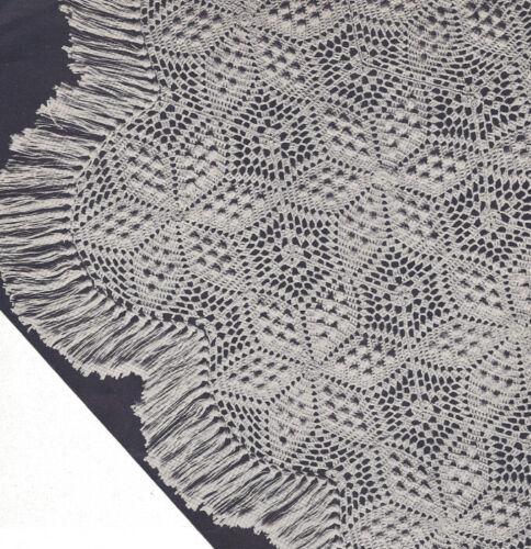 Vintage Crochet PATTERN Motif Bedspread Dawn Popcorn