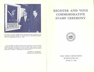 1344-C1-First-Day-Ceremony-Program-6c-Register-and-Vote-Stamp-w-FDC