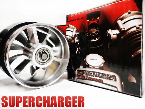 "Supercharger Cold Air Intake Turbonator Dual Gas Fuel Saver Fan Turbine 3/"""