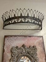 Teester Bed Crown Antique Bronze Wall Decor Ancathus Leaf Leaves Curtain Rod