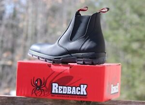 8a72f69035f Details about NEW Redback UBBK Men's Easy Escape Soft Toe Work Boots NIB  Genuin Black Leather