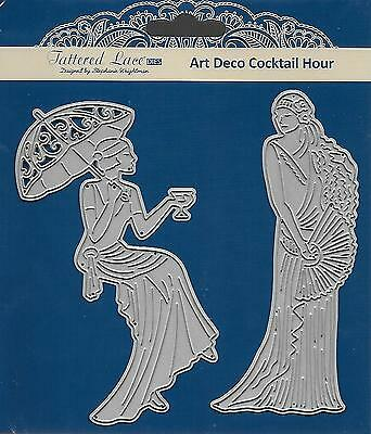 TATTERED LACE Cutting Die - ART DECO COCKTAIL HOUR - Two Stylish Women