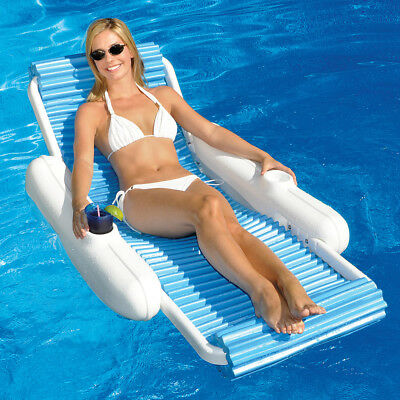 "Bright Swimline Eva 52"" X 23.2"" Float Swimming Pool Lounge High Safety Home & Garden"
