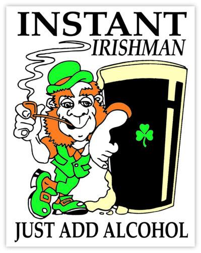 Irish Guinness Pint Leprechaun Car Bumper Window Sticker Vinyl Decal Decor