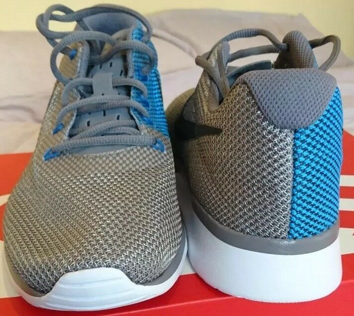 Nike 006 Tanjun Racer Uk 9 Grau Blau Weiß 921669 006 Nike  Uomo Trainers Gunsmoke da34a9