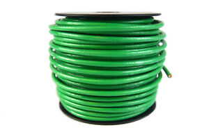 10 Gauge AWG 100 Feet Green Ground Wire Solid Copper UL Listed Cable Satellite
