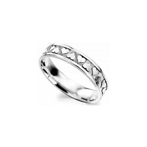 b0fd2c72f6ae6 Details about 9ct white Gold 5mm Celtic heart wedding band.