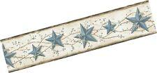 Chesapeake CTR65366B June Blue Heritage Tin Star Wallpaper Border