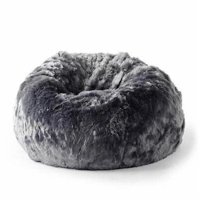 Pleasing Fur Beanbag Cover Soft Plush Charcoal Grey Cloud Bean Bag Lounge Chair New Ebay Ncnpc Chair Design For Home Ncnpcorg