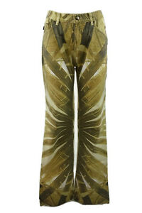 JUST-CAVALLI-WOMEN-039-S-SIZE-27-JEANS-FLOWER-PRINT-MADE-IN-ITALY-33-INSEAM