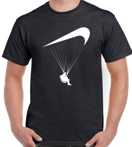 Parapente T-Shirt Parodie Hommes Drôle Paraglider Paraglide Parachutisme Para