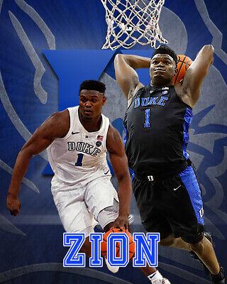 Duke Blue Devils ZION WILLIAMSON Glossy 8x10 Photo Spotlight Poster
