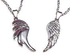 ANGEL & DEVIL WINGS NECKLACE PAIR best friends love couples set pendants new 4E