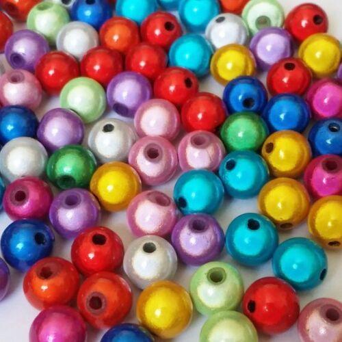 25pcs Assortiment miracle perles en résine plastique 8 mm Bijoux Craft Supplies B15086