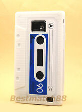 FOR SAMSUNG GALAXY S2 SII i9100 and i777 WHITE CASSETTE TAPE SOFT SILICONE CASE