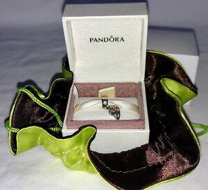 Pandora Girl Baby Bootie Silver 14k Gold 790403pcz N I B