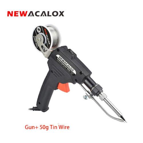 NEWACALOX US//EU 110V 220V 60W Auto Send Tin Inner Heat Gun Soldering Welding HOT