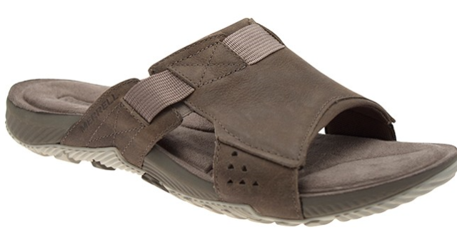 3348aa6c6e73 ... Padded Full Grain Leather Walking Sandals UK 12 Brindle 677338736620.  About this product. Merrell Terrant Slide Brindle Comfort Sandal Men s  sizes 7-15 ...