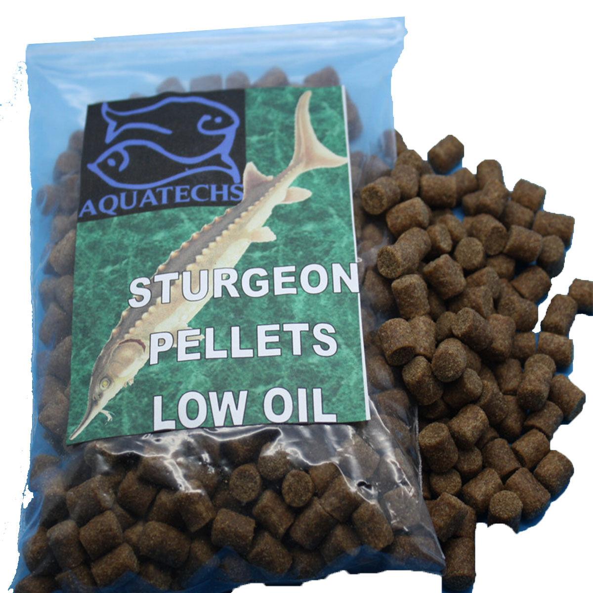 Aquatechs sturgeon food pellets 2mm,4mm,6mm or 8mm 15Kg low oil sturgeon feed