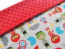 Baby Blanket Baby Marvel Super Hero's - Super Soft Red Minky - Pram blanket
