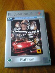 Sony Playstation 2-platinum-midnight Club Ii 2003-afficher Le Titre D'origine